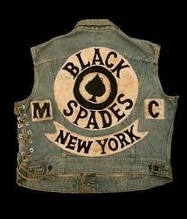 009 New York gang jacket circa 1960's70's Black spades, New