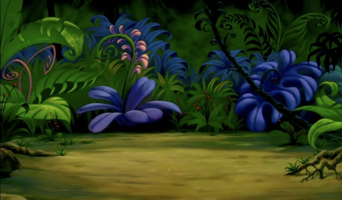 Disney Crossover Image Empty Backdrop From The Lion King Jungle Scene Lion King Jr Animation Background