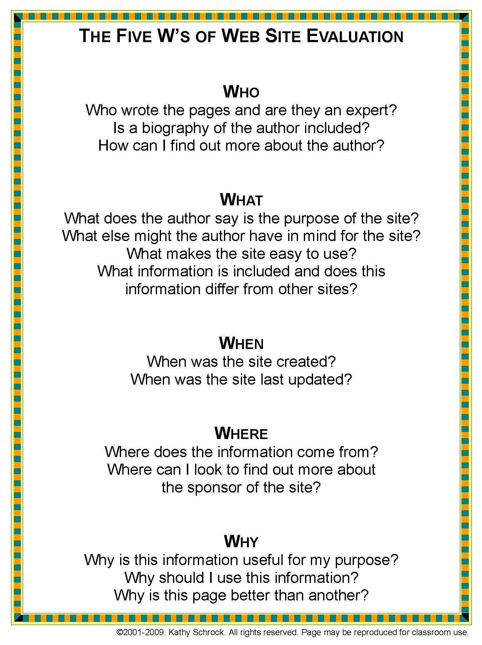 Worksheets Website Evaluation Worksheet guiding questions for internet research reliability literacy
