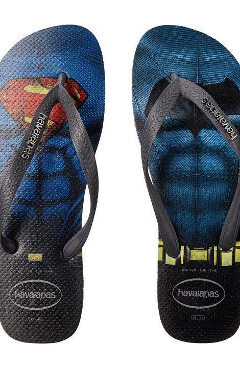 Havaianas Top Batman V Superman Sandal (Black/Grey) Men's Sandals -  Havaianas,