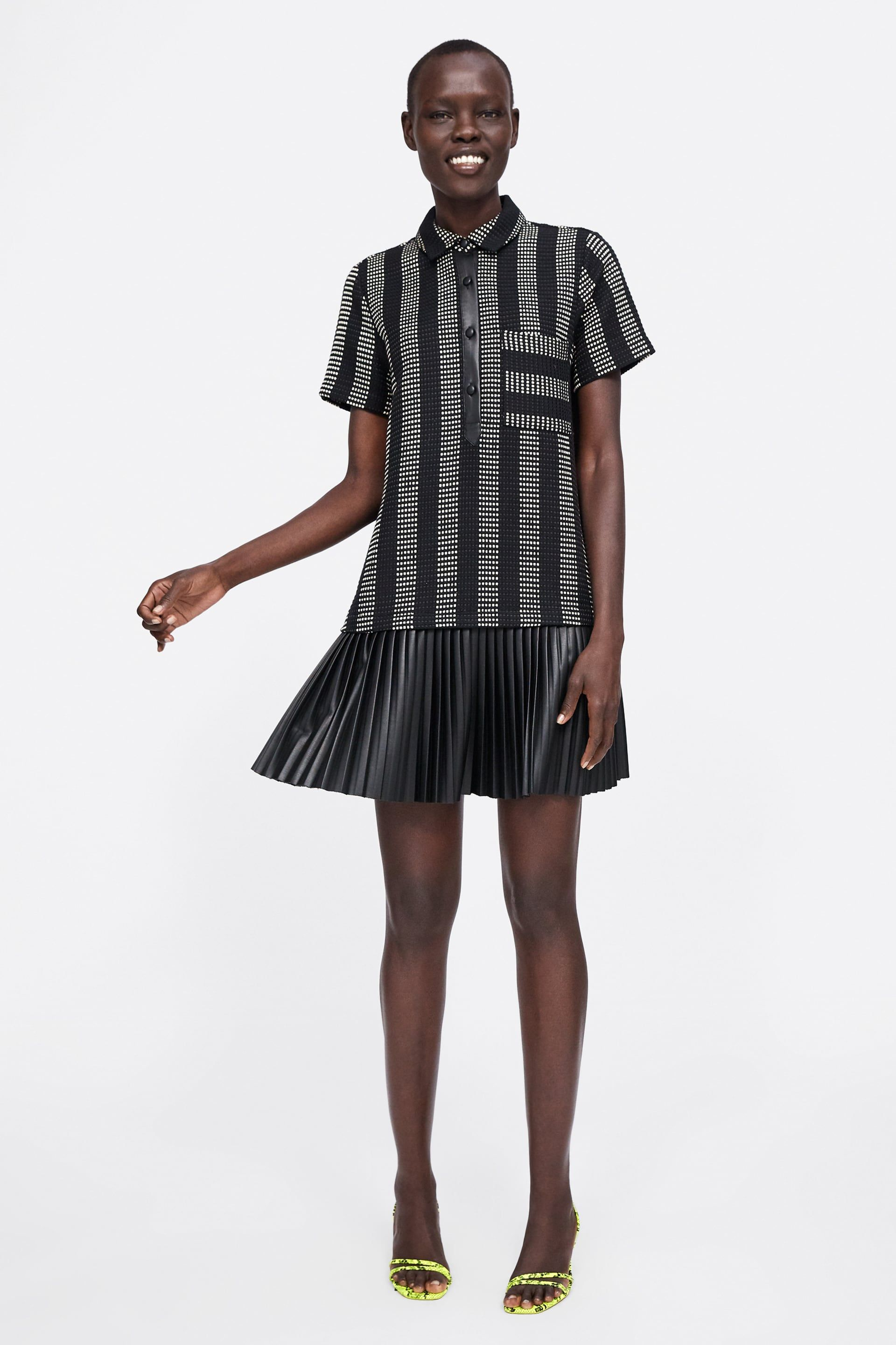 75fbbbb13f Combined structured dress in 2019 | Zara fashion | Dresses ...