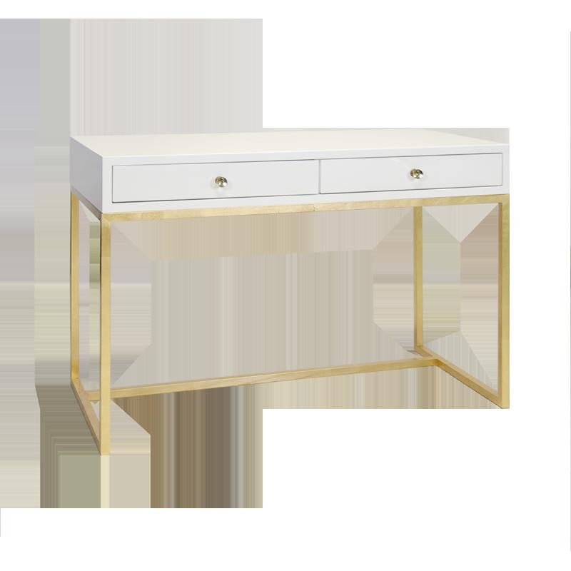 William Lacquer Two Drawer Desk In White Worlds Away White Lacquer Desk Modern White Desk Lacquer Desk