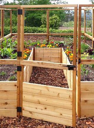 OLT 8 Raised Cedar Garden Bed with Deer Fence in 2020 ...