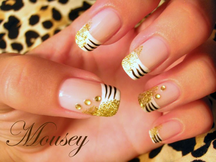 diamond Nail Designs | Foto of nail art – gold design | A1nailart.com