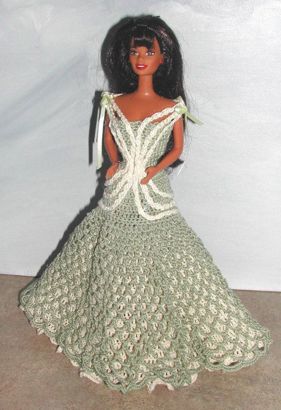 Crochet Fashion Doll Barbie Pattern- #644 Design You Own EVENING ...