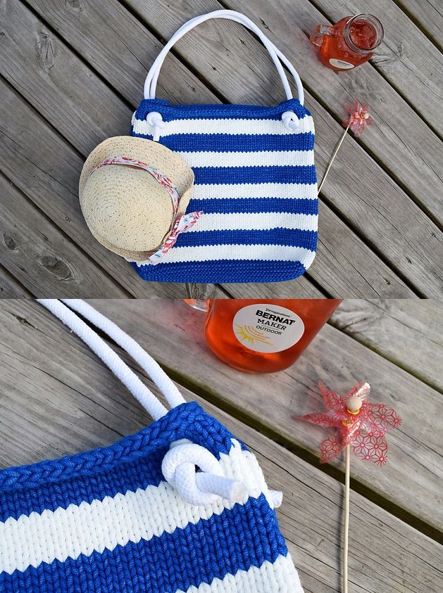 25+ Free Knit Tote Bag Patterns You\'ll Love Knitting | Pinterest