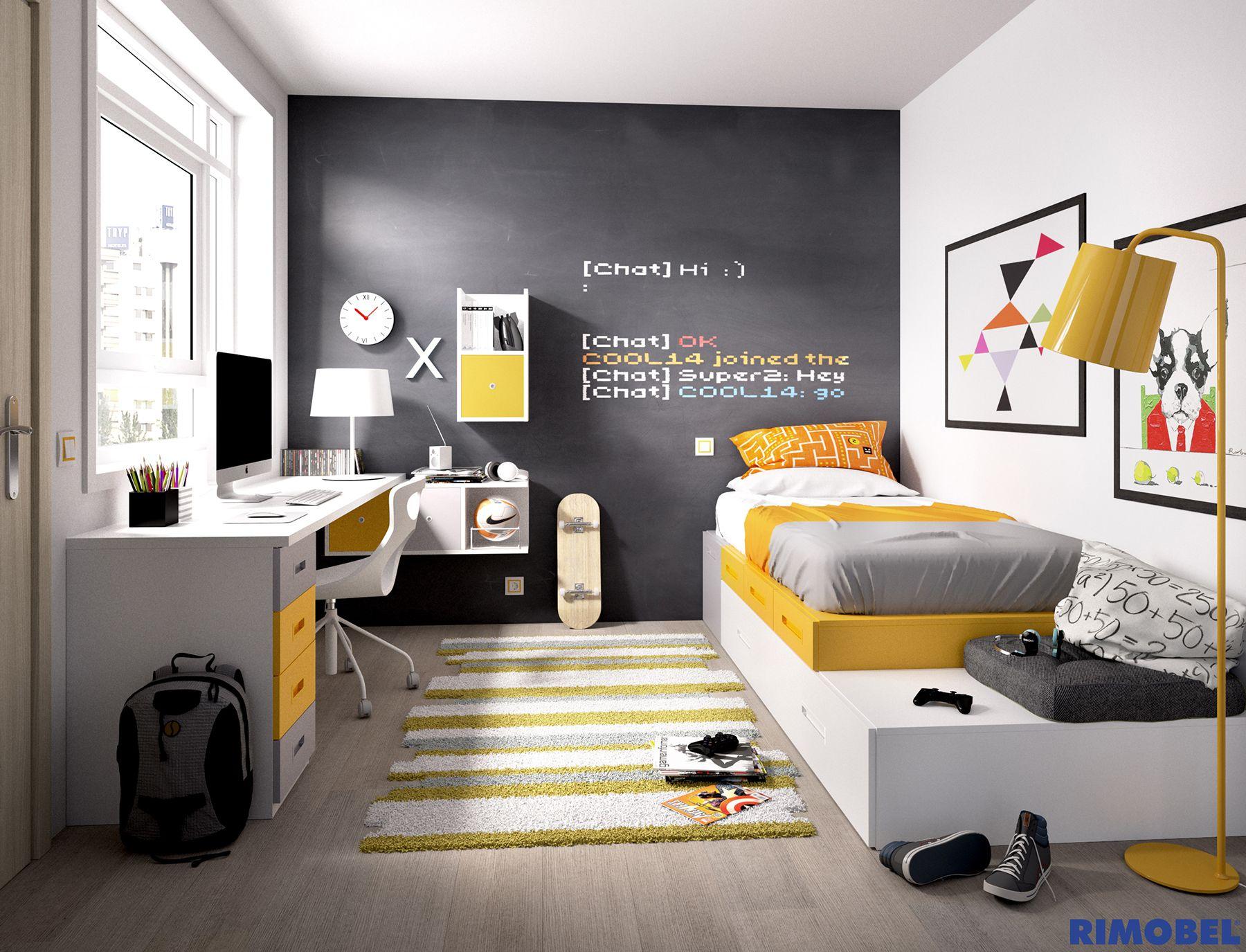 F 53 habitaci n juvenil creada con system qb distribuye - Habitacion juvenil nino ...
