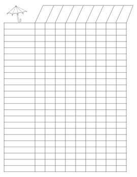Editable Class Lists Grade Book Printable School Forms Class List