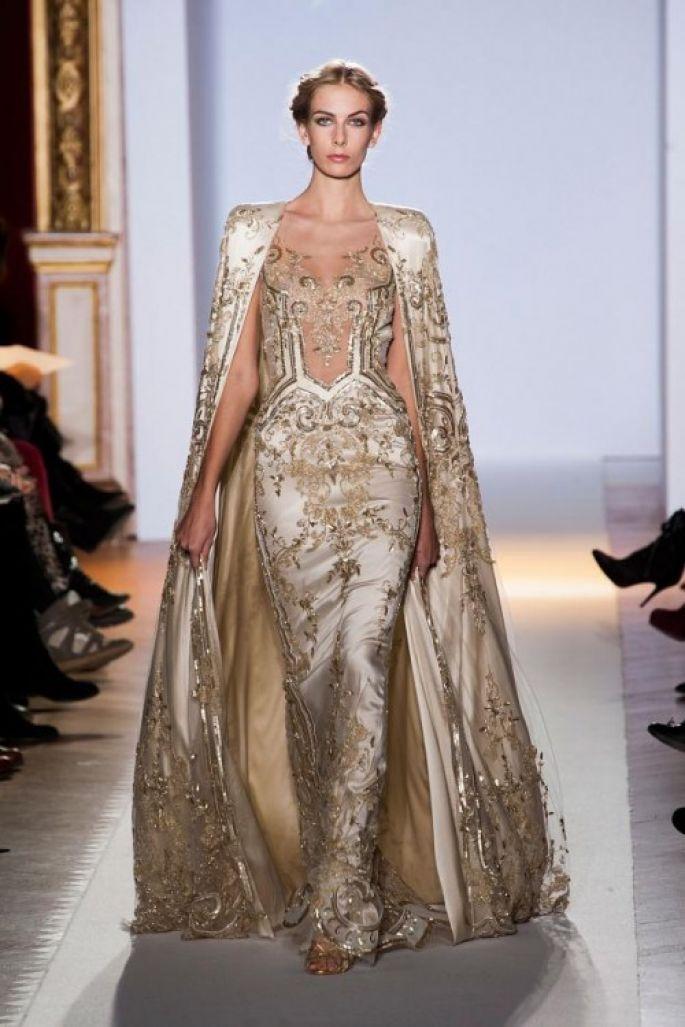 Vestido de novia inspirado en las diosas griegas en color dorado con ...