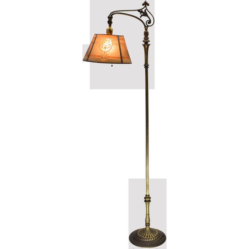 1930s Almco Mslc Floor Lamp Vintage Art Nouveau Rustic Lamps Lamp Floor Lamp