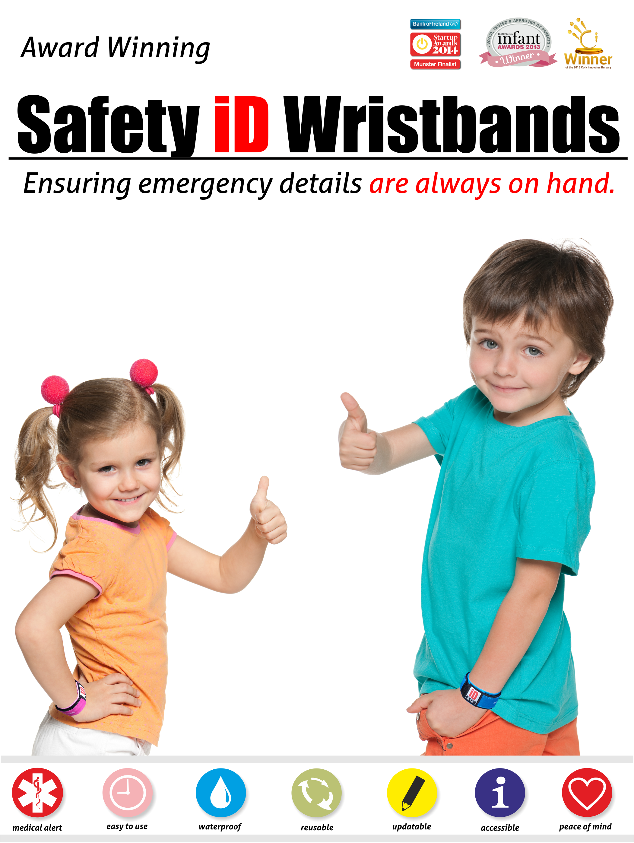 of wristbands info bands for id safety pack kids disposable identity by