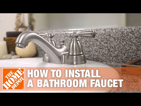 Follow This Guide And Learn How To Install A New Bathroom Faucet Get All The Supplies You Need Delivered In 2020 Replace Bathroom Faucet Sink Faucets Bathroom Faucets