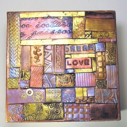 Mosaic Made With Polymer Clay Tiles Crafts Inspiration Polymerclay