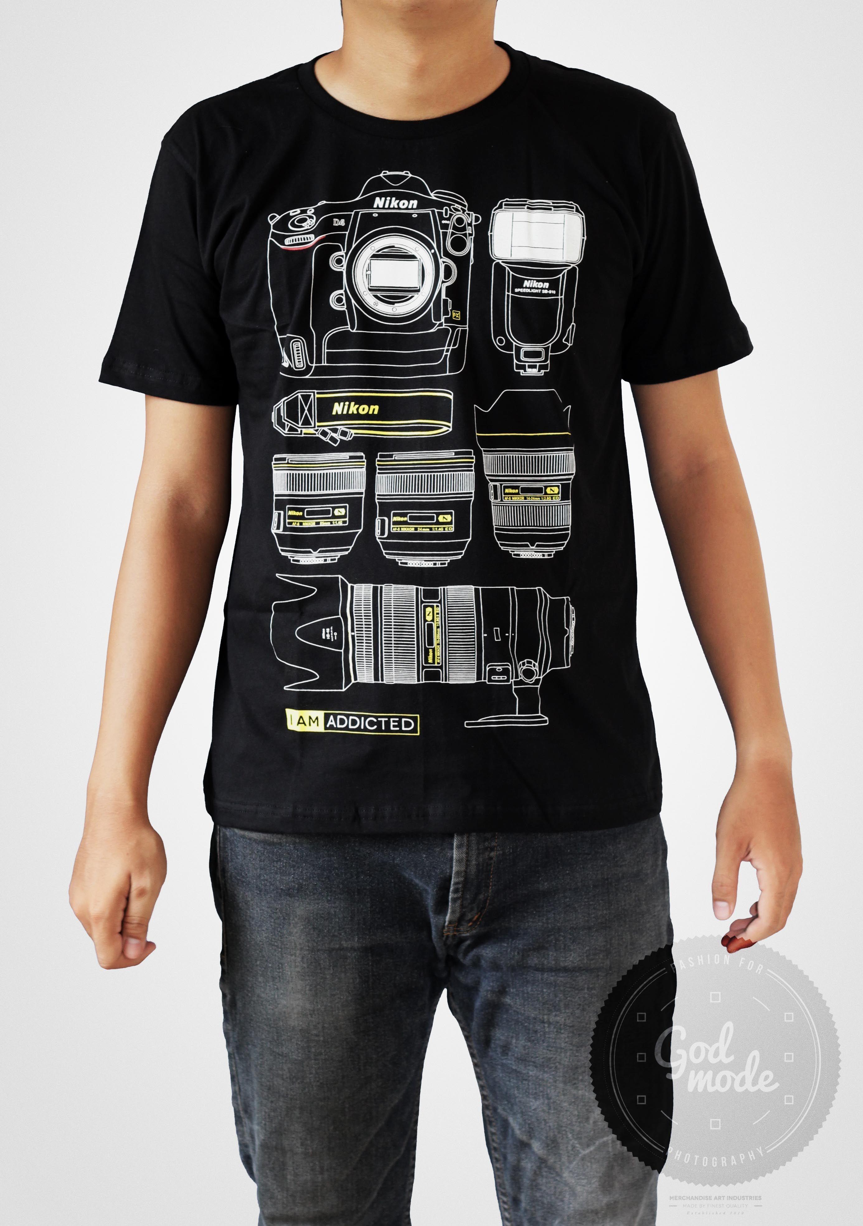 18 Usd Nikon Equipment T Shirt Photography I Am Addicted