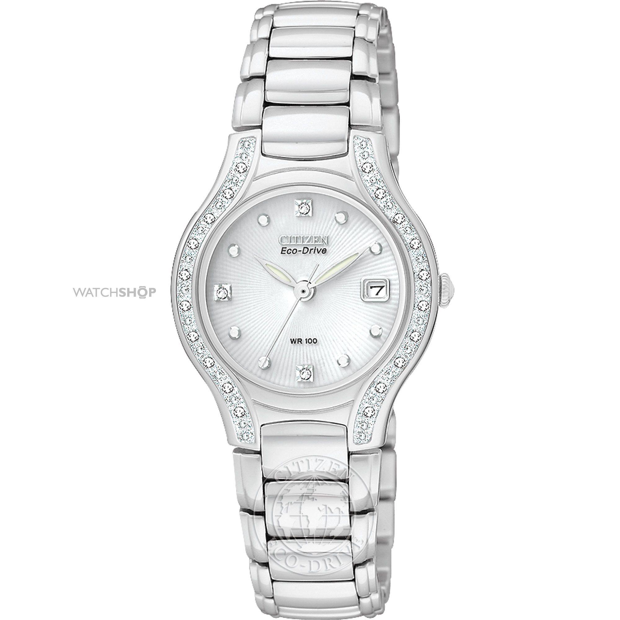 6d413bfea869fd Ladies Citizen Modena Diamond Eco-Drive Watch EW0970-51B