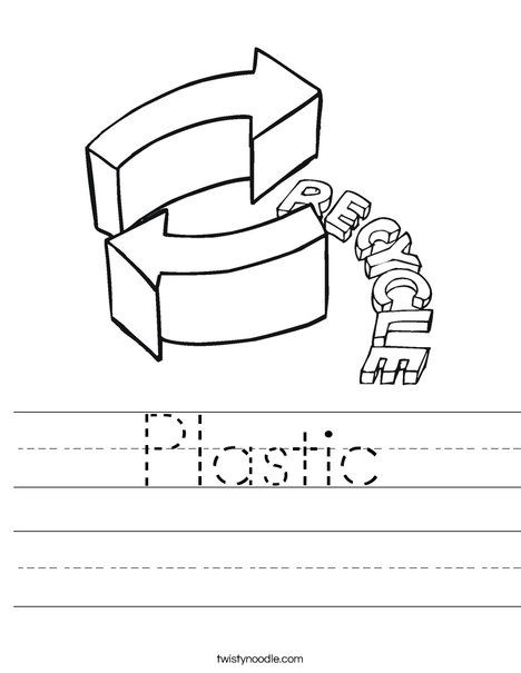 Plastic Worksheet Twisty Noodle Earthday Crafts Pinterest