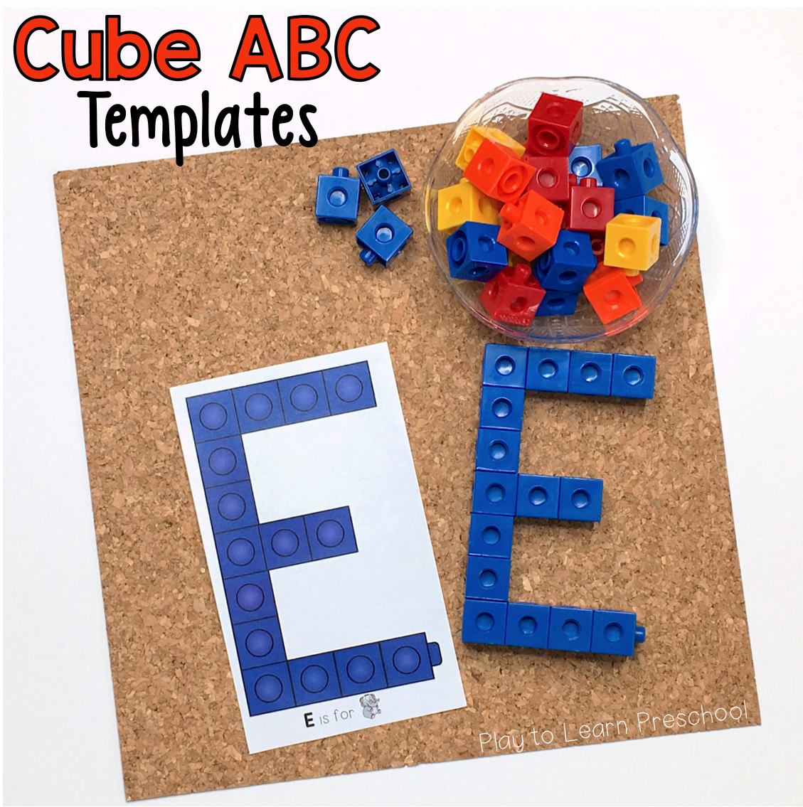 Print These For Your Literacy Center Young Children Can Make Each Of The Upper Case Letters