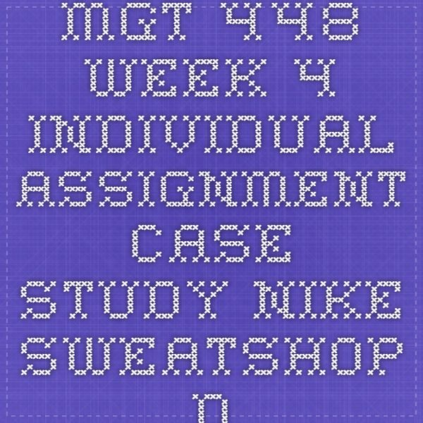 mgt 448 case study nike