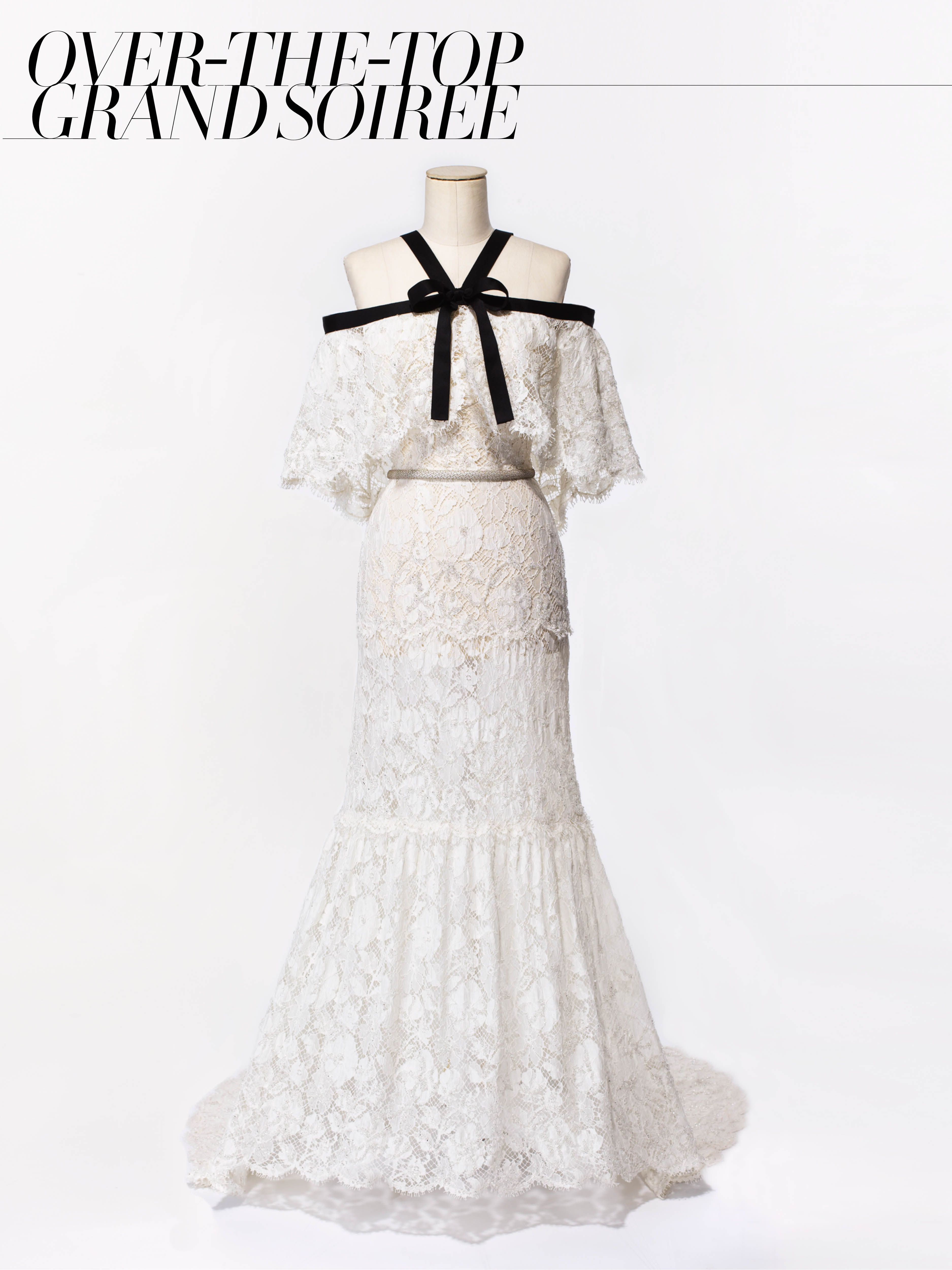 Chanel Haute Couture Ivory Lace Embroidered Dress Price Upon Requestfor Information