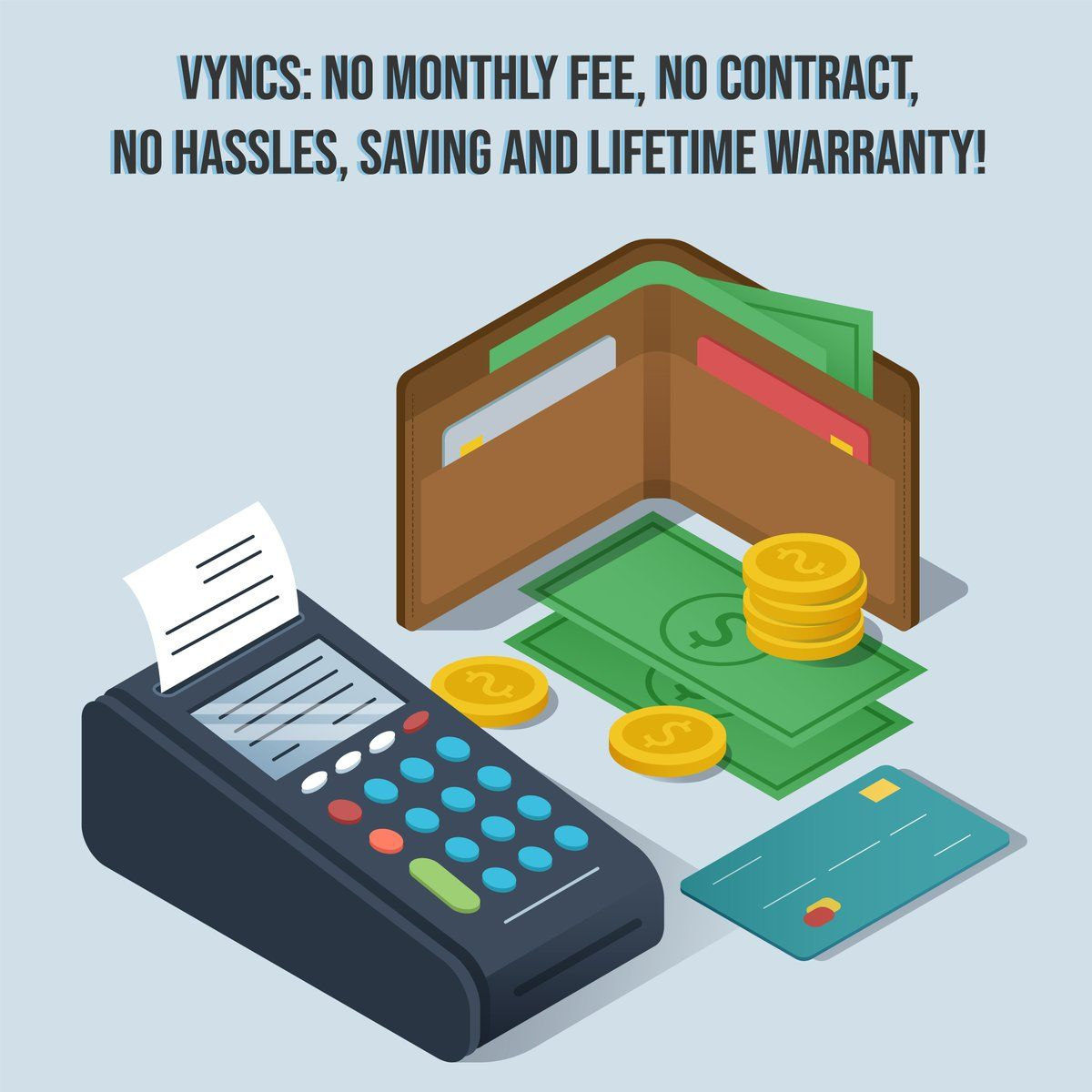 Vyncs (MyVyncs) Twitter Isometric, Creative poster