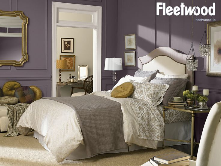 Painted With Fields Of Heather From The Fleetwood Popular Colours Range Home White Headboard Bedroom Inspirations Heather colour bedroom ideas