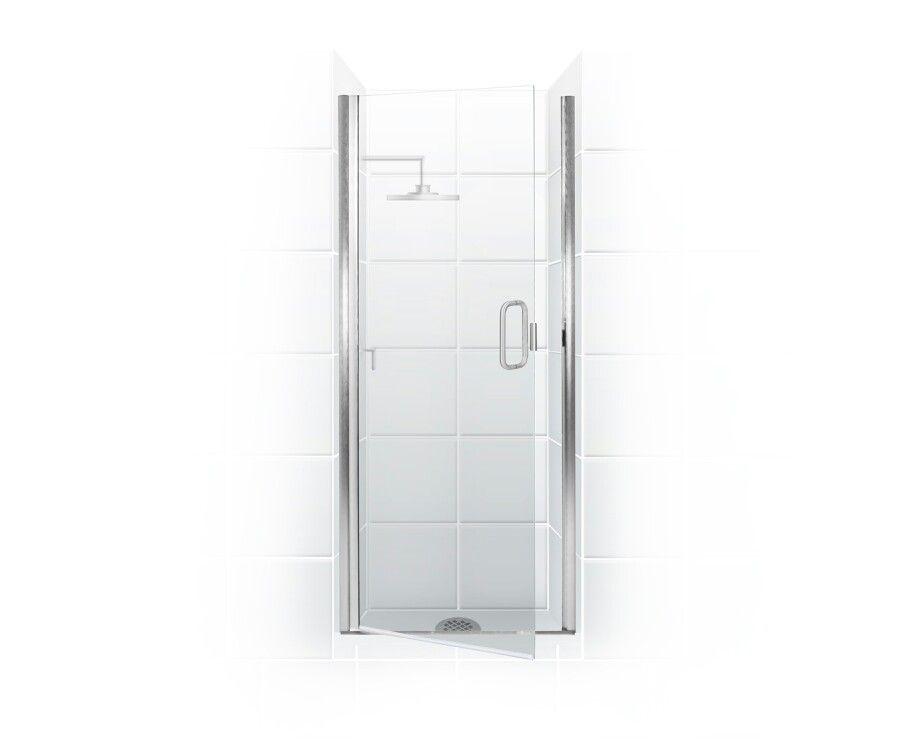 Paragon Series Semi Frameless Shower Door With Through Glass C Pull Handle Standalone Swing Door Onl Frameless Shower Doors Shower Doors Coastal Shower Doors