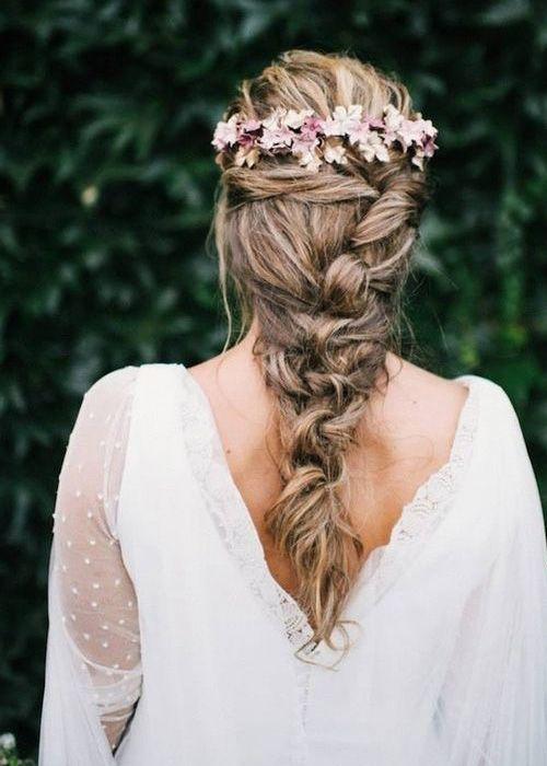 Peinado novia trenza