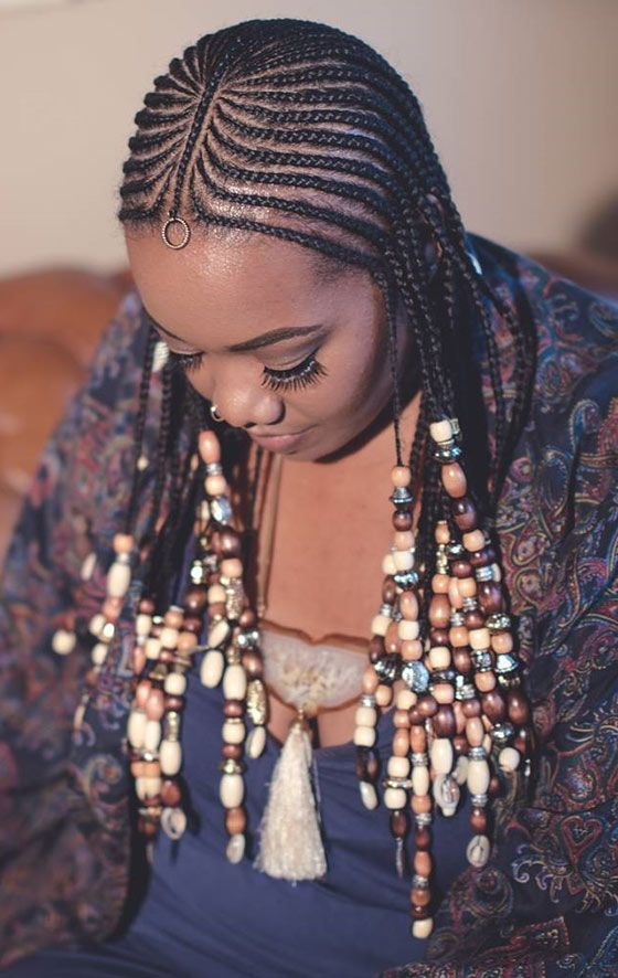 41 Cute And Chic Cornrow Braids Hairstyles With Images Natural