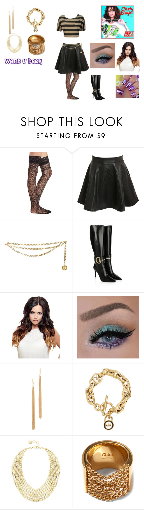 """Want U Back by Cher Lloyd"" by ocean-goddess ❤ liked on Polyvore featuring Charlotte Russe, Pilot, Chanel, Gucci, Jules Smith, Michael Kors, BCBGMAXAZRIA and Chloé"