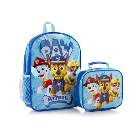 Heys Paw Patrol Boys' Econo Backpack With Lunch Bag Kit Blue 15 In - Paw patrol backpack, Kids school shoes, Lunch bag, Paw patrol, Backpacks, Bags - Size 15 Inch Kids Backpacks Clothing, Shoes & Accessories