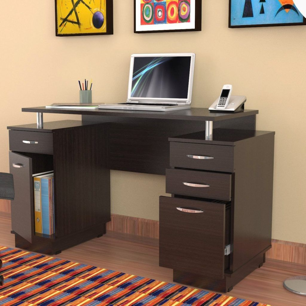 Small Desk With Locking File Drawer Small Office Desk Small Computer Desk Computer Desks For Home