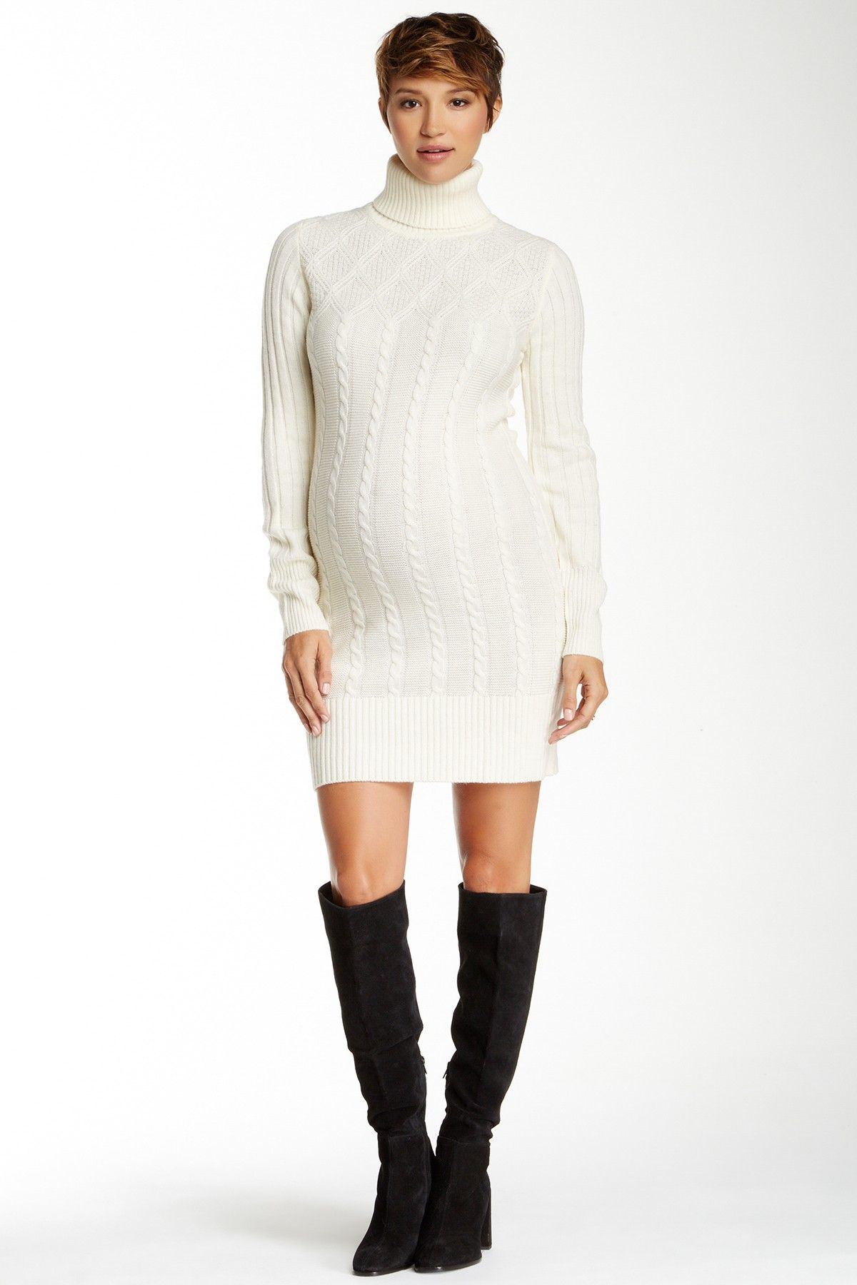 Erica cable knit turtleneck sweater dress by momo maternity on erica cable knit turtleneck sweater dress by momo maternity on hautelook ombrellifo Image collections