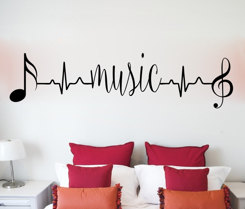 Music Heartbeat Vinyl Wall Words Decal Sticker Home Decor Art Etsy In 2020 Wall Decals Living Room Vinyl Wall Words Vinyl Wall Decals Living Room #wall #words #for #living #room