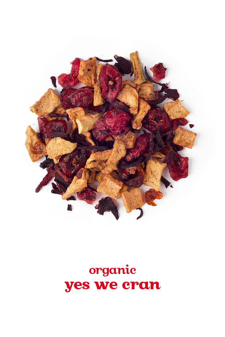 FALL 2014 - Yes We Cran - A sweet, lightly tart blend with warm spices, cranberries and rosehips.