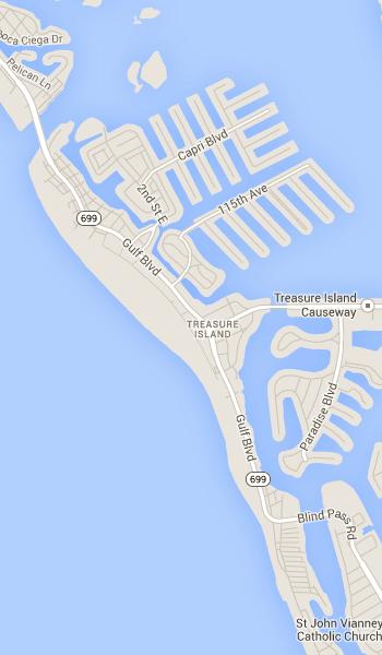 Map Of Clearwater Beach Florida.Treasure Island Florida St Petersburg Clearwater Fl Beach