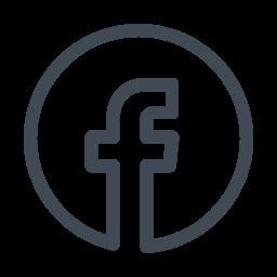 Facebook Circled Icon Logomarca