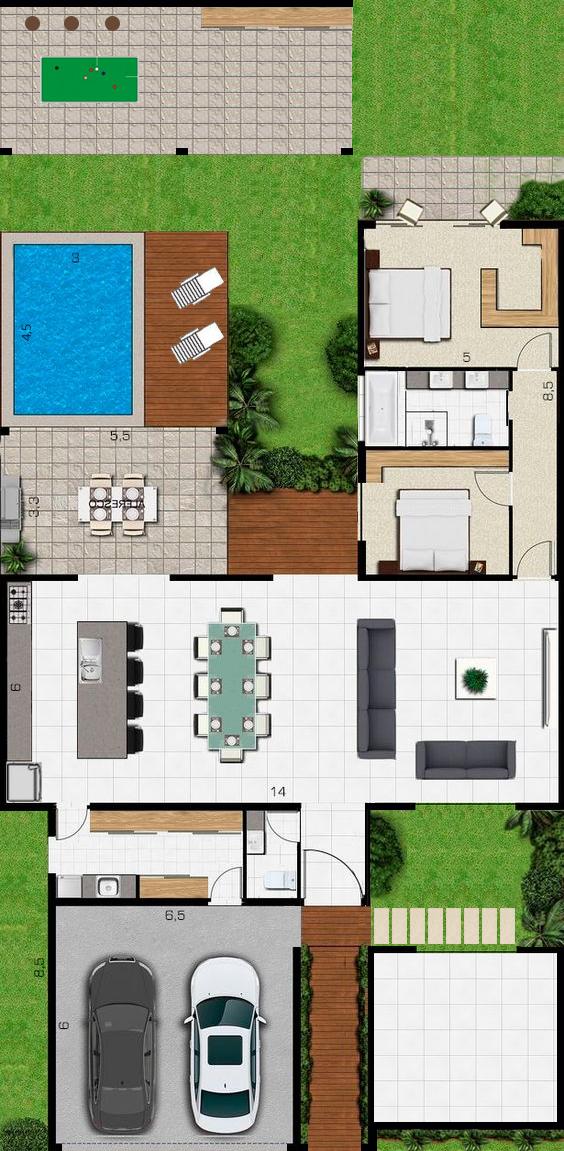 Pin de Stephanie Glez en Diseño planos house | Pinterest | Planos ...