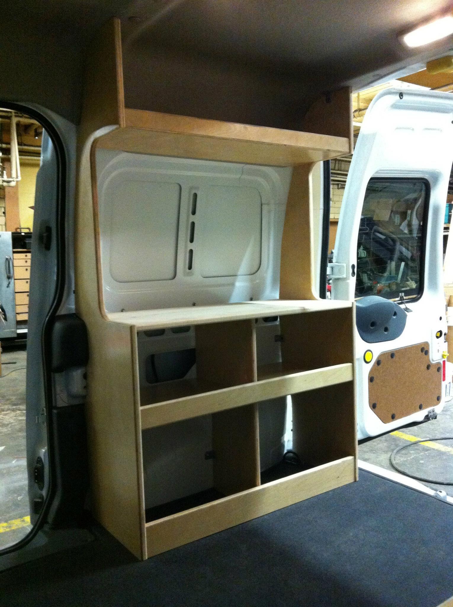 Foto Ford Transit Connect Camper Van Diy Flat Pack Kit Cabinets