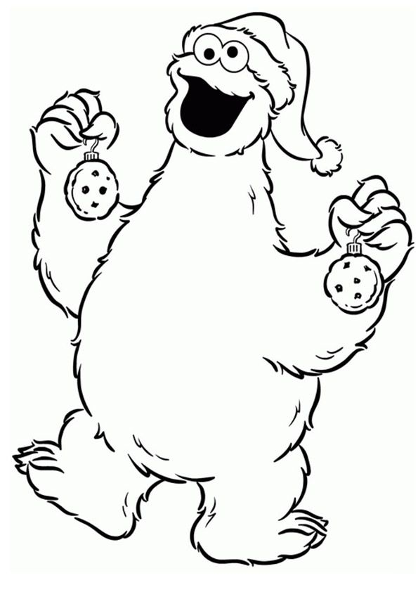 Print Coloring Image Momjunction Monster Coloring Pages Sesame Street Coloring Pages Christmas Coloring Pages