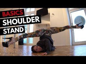 tutorial basic shoulder stand  practice without the pole