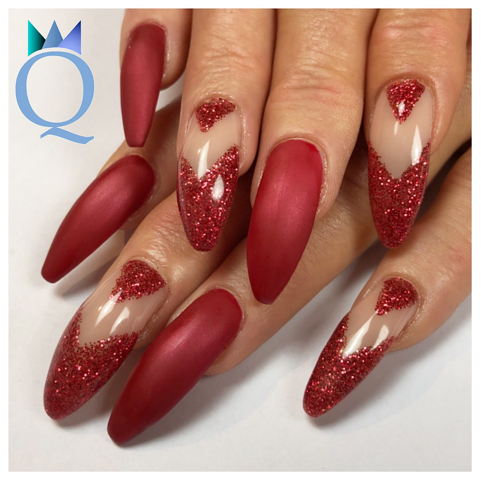 Bezaubernd Nageldesign Rot Galerie Von #longnails #gelnails #nails #coffinnails #red #glitter #langenägel
