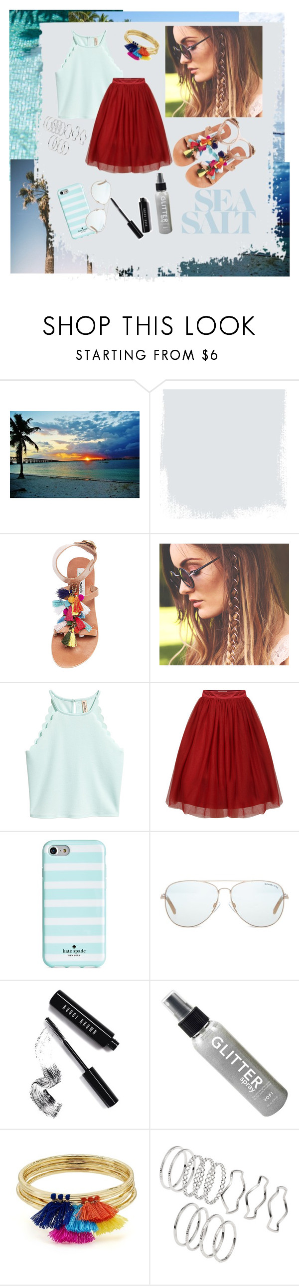 """""""summer 👒"""" by ak07 ❤ liked on Polyvore featuring Steve Madden, Kate Spade, Michael Kors, Bobbi Brown Cosmetics and Aqua"""