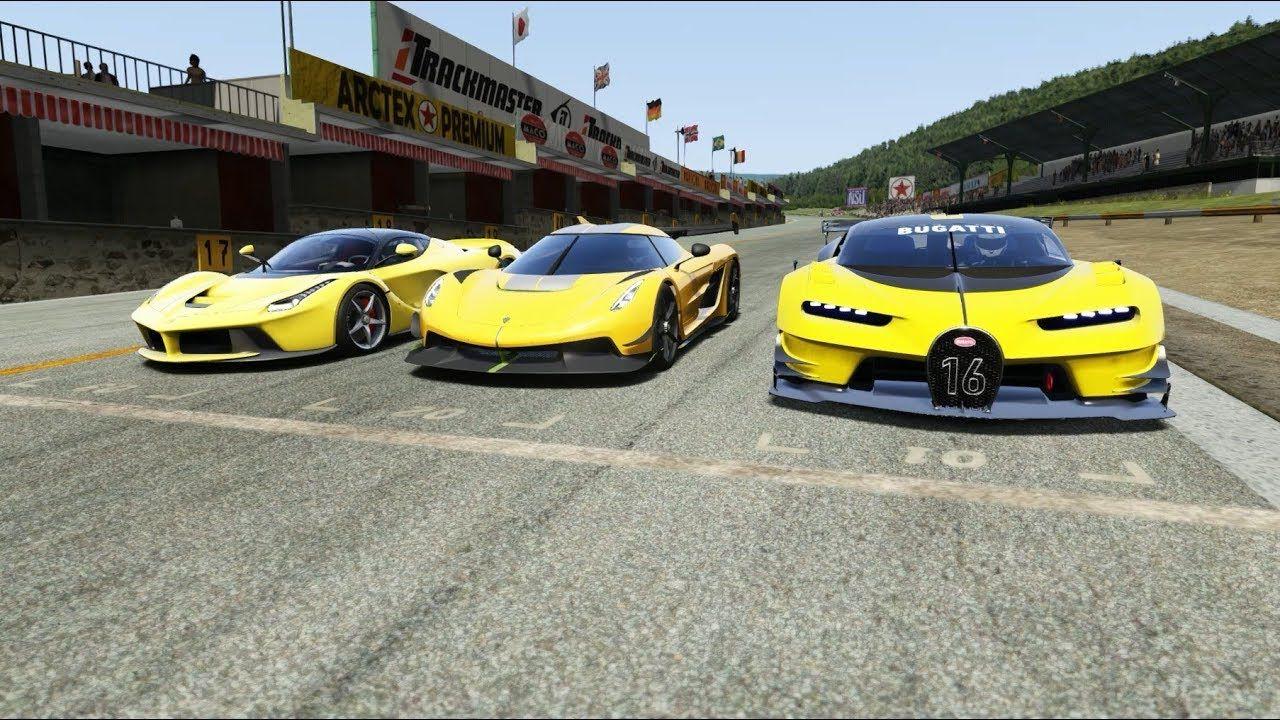 Koenigsegg Jesko Vs Ferrari Laferrari Vs Bugatti Vision Gt In 2020 Ferrari Laferrari Koenigsegg Hot Rods Cars Muscle