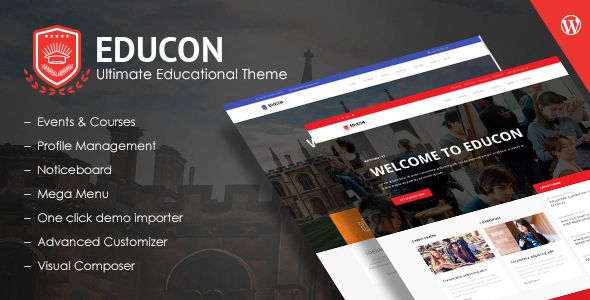 Download Educon - Education WordPress Theme Nulled Latest
