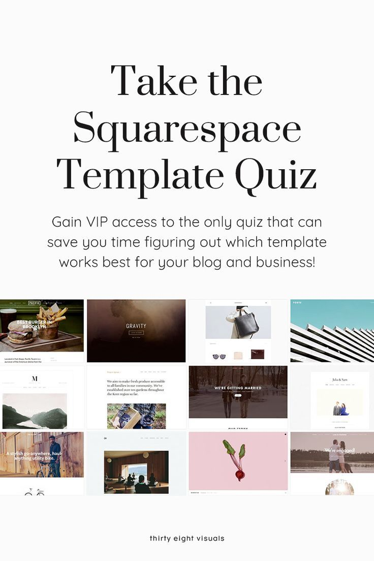 Take The Squarespace Template Quiz To Figure Out Once And For All