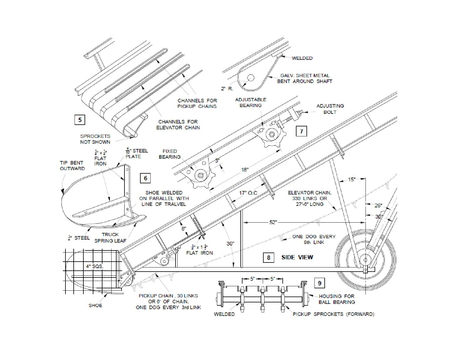Portable Conveyor System Plans Diy Hay Bale Loader