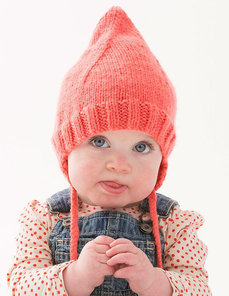 b883f93a2a1 Free Knitting Pattern for One Skein Cutie Pointed Baby Hat - This easy hat  for babies and toddlers only takes one ball of the recommended yarn.