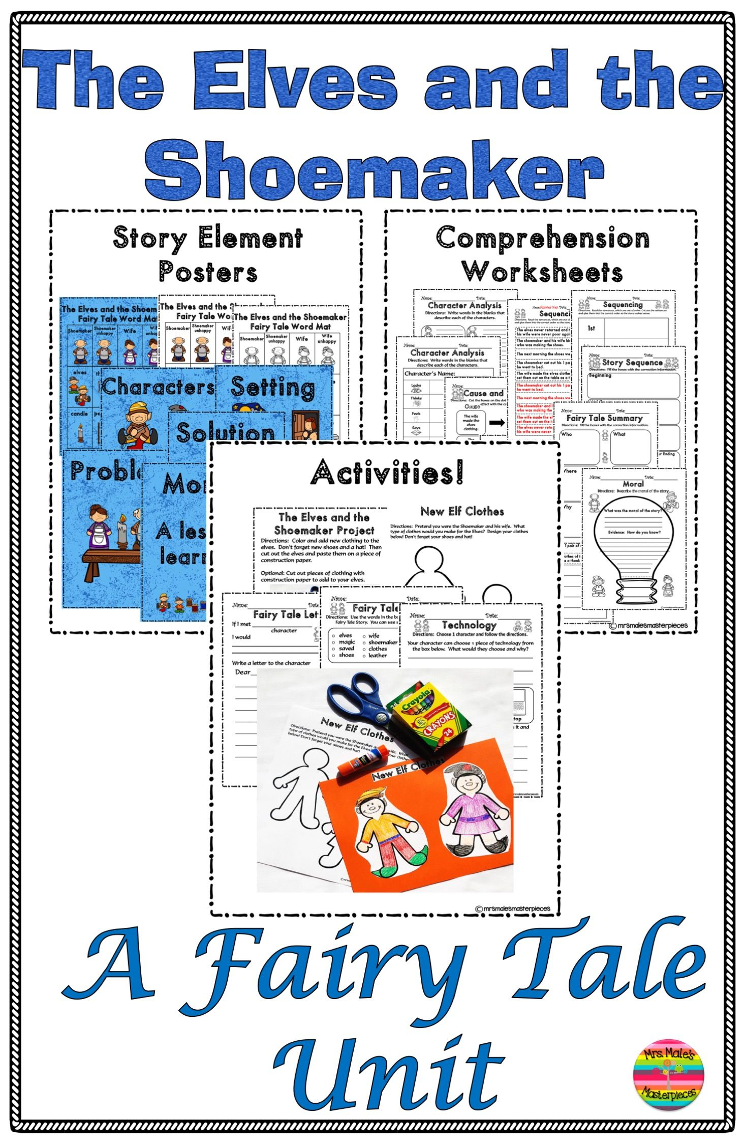 The Elves And The Shoemaker Activities And Comprehension