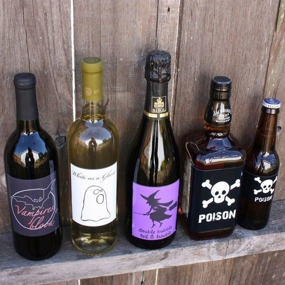 My kind of halloween decorations) Use leftover bottles, and just - my halloween decorations