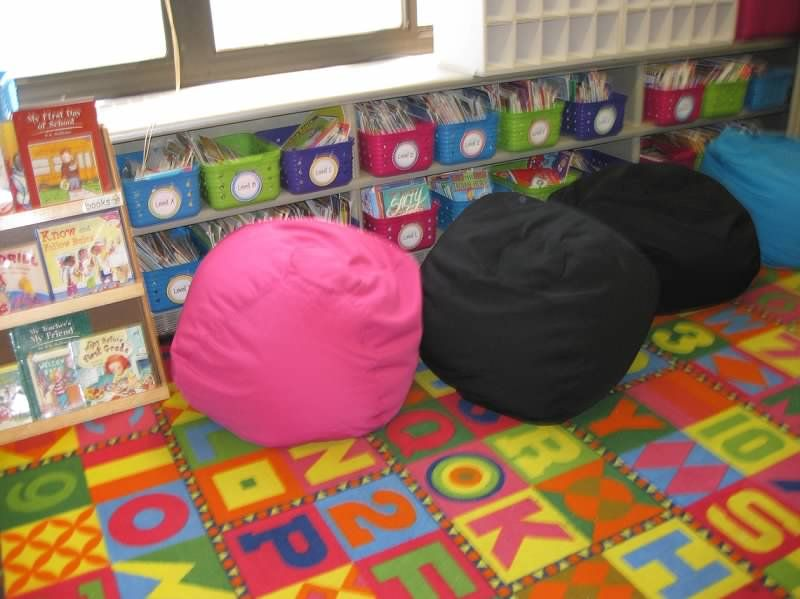Erica Bohrers Classroom A Z Leveled Book Baskets Bins And Bean Bag Chairs From